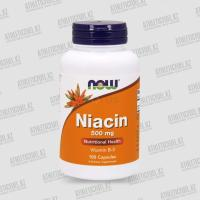 Фото NOW Foods Niacin 500 mg 100 капс