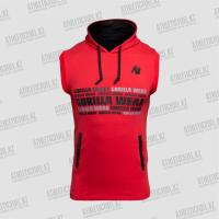 Gorilla Wear Melbourne Sleeveless Hooded T-shirt Red